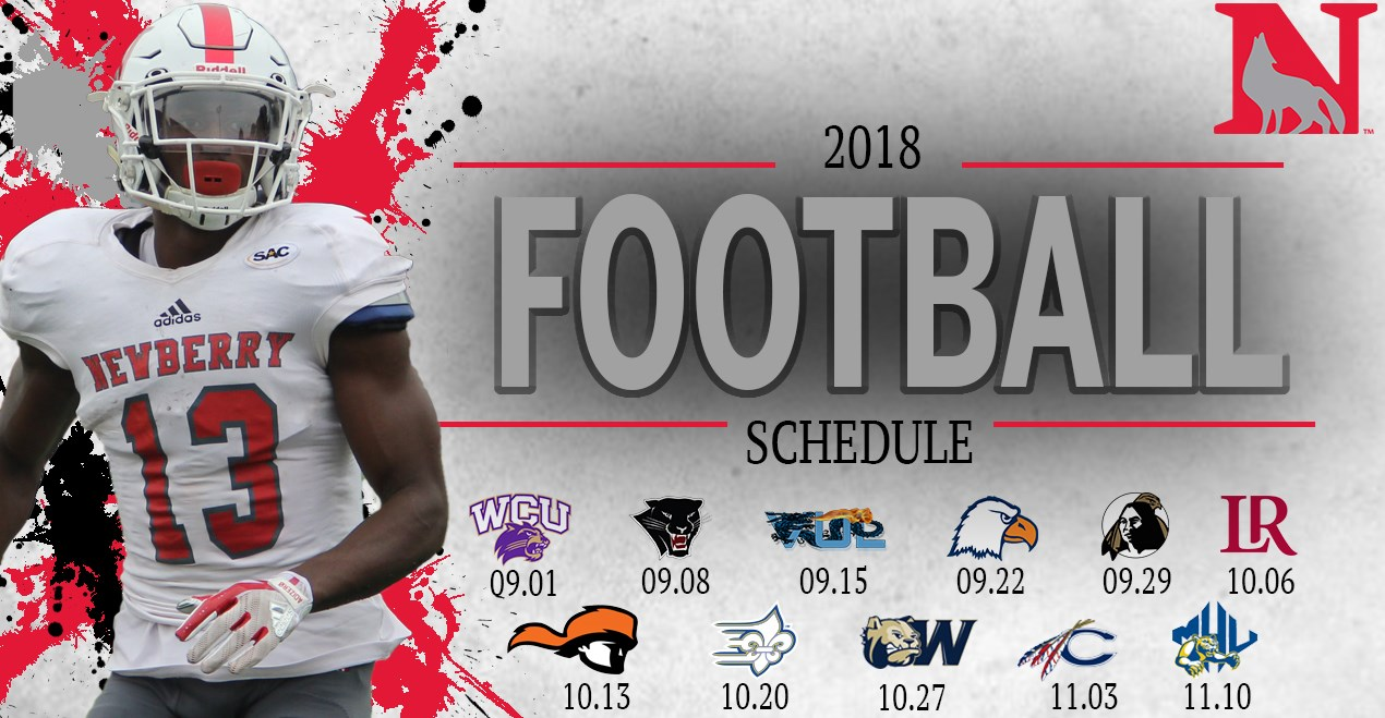 2018 football schedule announced - newberry college athletics